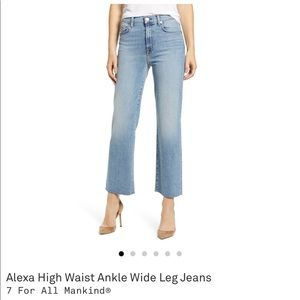"7 For All Mankind raw-hem ""Alexa"" jeans"